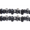 Bow Beads (Farfalle) 3.2x6.5mm Black Opaque